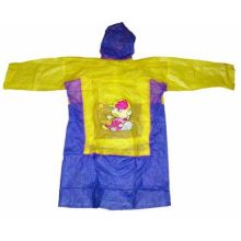 Виниловый плащ-дождевик для детей, Желто-Синий