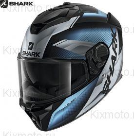 Шлем Shark Spartan GT Elgen, Черный матовый с синим