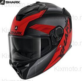 Шлем Shark Spartan GT Elgen, Черный матовый с красным