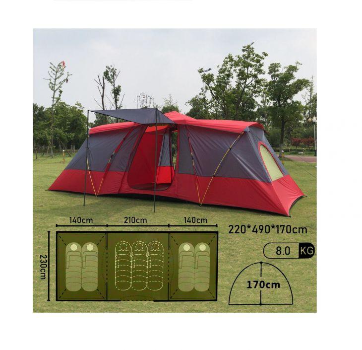 Палатка 4-7 местная Mir Camping Mimir-920 красный