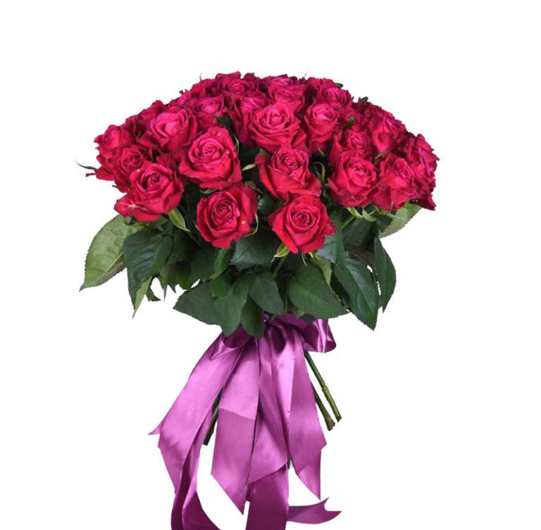 Роза ярко-розовая от 11 шт 60 см Россия
