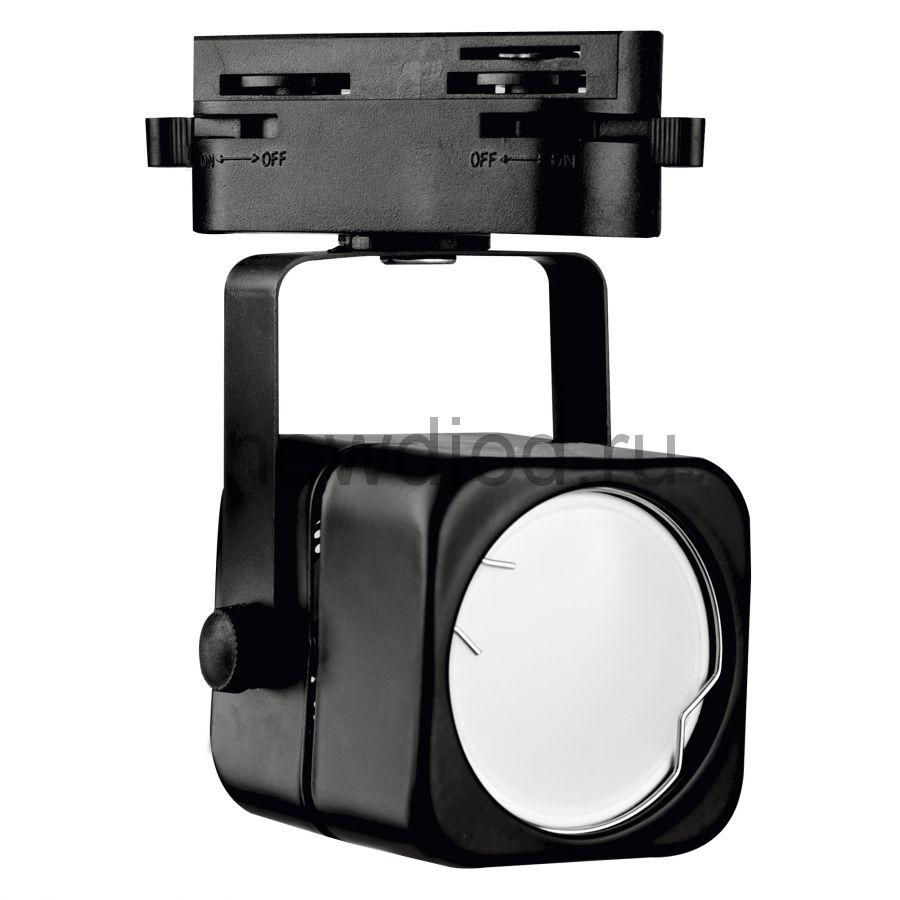 Трековый светильник-прожектор под лампу с цоколем GU10 IP40 220 V 50 Hz UBL-Q320 GU10 BLACK ТМ Volpe