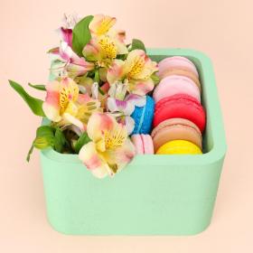 """Пенобокс 16×16×10 см кашпо для цветов и подарков """"Квадрат"""", зелёный"""