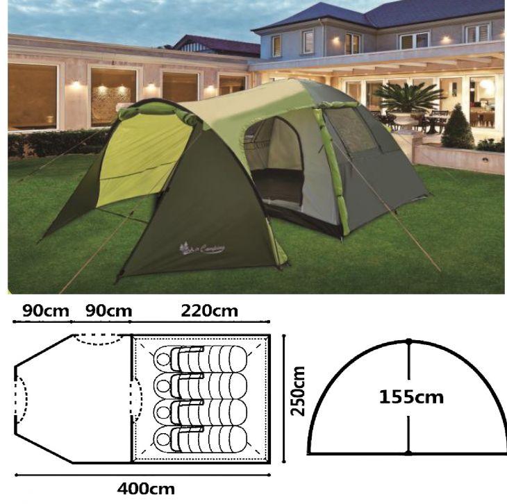 Палатка 3-4 местная Mimir Mir Camping ART1036