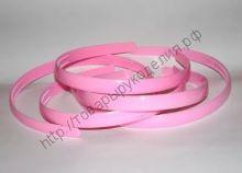 ободок 12мм розовый