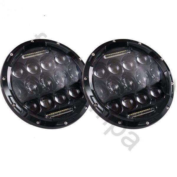 Круглые светодиодные фары головного света (пара) 7 дюймов (90 ватт) УАЗ Нива