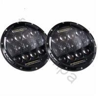 Круглые светодиодные фары головного света (пара) 7 дюймов (75 ватт) УАЗ Нива