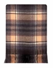Теплое пончо,  100 % стопроцентная шотландская овечья шерсть, расцветка  тартан деревушки Таллинессл TULLYNESSLE MODERN TARTAN, плотность 6