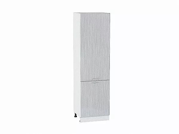 Шкаф пенал с 2-мя дверцами Валерия ШП600Н (серый металлик дождь)