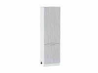 Шкаф пенал с 2-мя дверцами Валерия ШП600Н в цвете серый металлик дождь