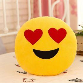 "Подушка Emoji ""Heart Eyes Emoji"" Эмоджи ""Сердечко"" 35 см"