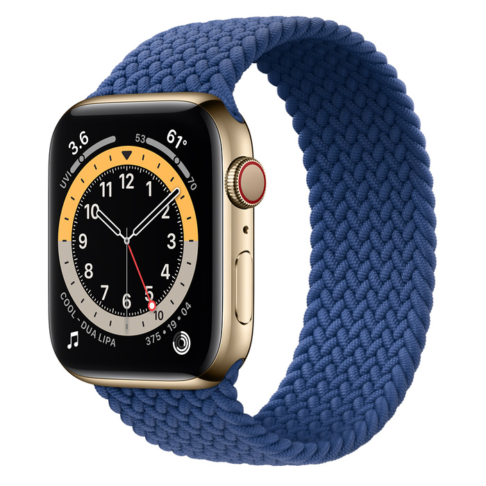 Ремешок Apple Watch Series 6 Atlantic Blue Braided Solo Loop (для корпуса 44 мм)