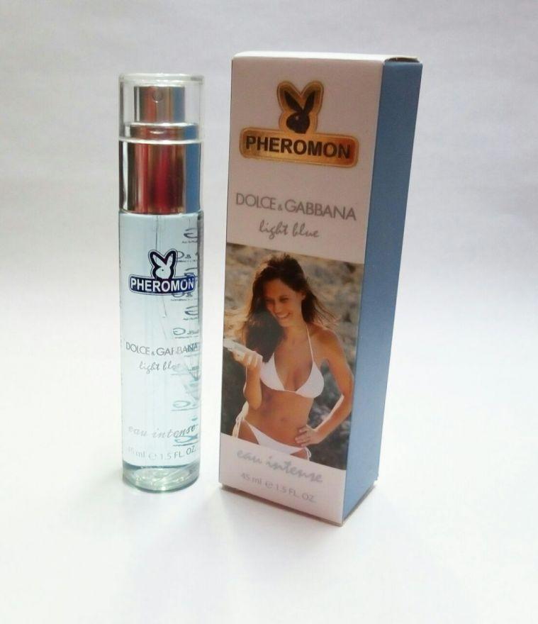 Мини-парфюм с феромонами  Dolce & Gabbana Light Blue Eau Intense 45ml