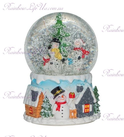 "Шар со снегом ""Праздничный снеговичок"""
