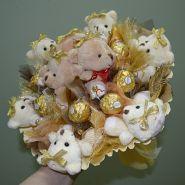 """Букет из игрушек с конфетами №350-9к """"Золотая Ливадия"""""""