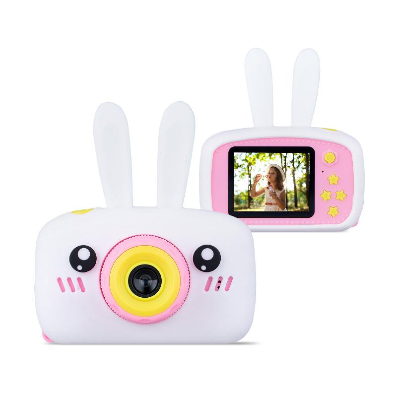 Детский цифровой фотоаппарат Зайчик, Белый