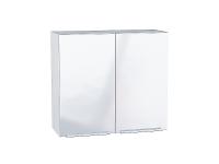 Шкаф верхний с 2-мя дверцами Фьюжн В800 в цвете Angel