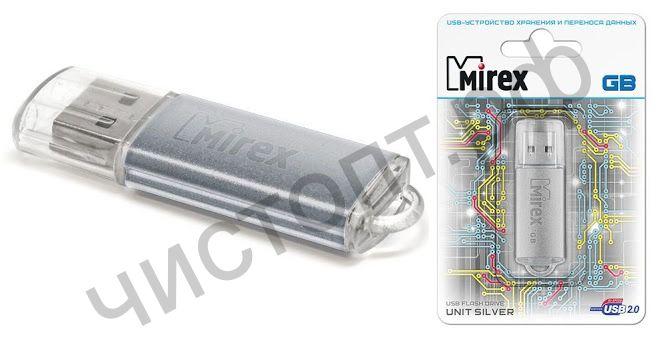 флэш-карта Mirex 32GB UNIT Silver (ecopack) серебро