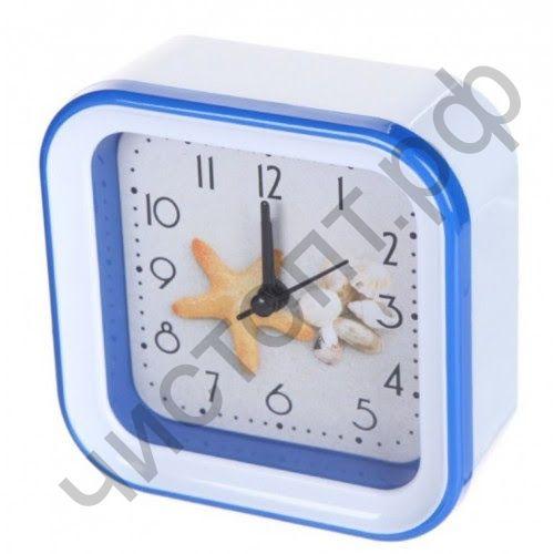 """Часы -будильник настол. Perfeo Quartz """"PF-TC-006"""", квадратные 10*10 см, звезда"""