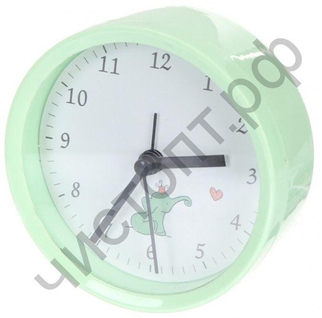 """Часы -будильник настол. Perfeo Quartz """"PF-TC-011"""", круглые диам. 9,5 см, зелёные"""