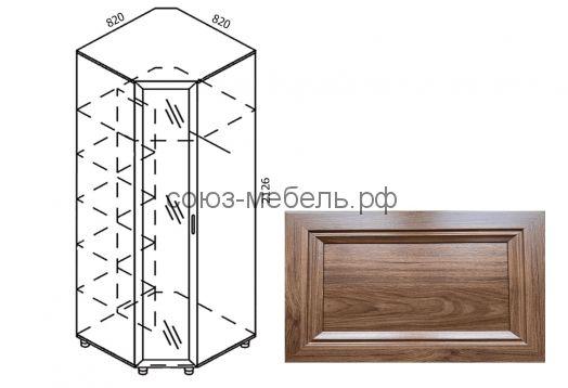 Классика Шкаф угловой с зеркалом Ш-УГ-Z