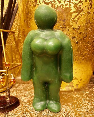Восковая Кукла Вольт Женская Зеленая