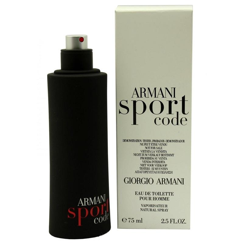 Tester Armani Black Code sport 75 мл
