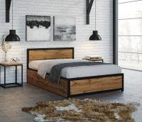 Кровать Титан Лофт 120 черный/белый