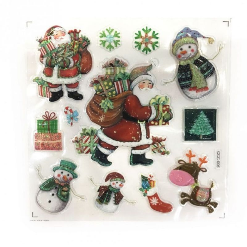 Новогодние наклейки на окна Room Decor, 26х21 см, рисунок Дед Мороз
