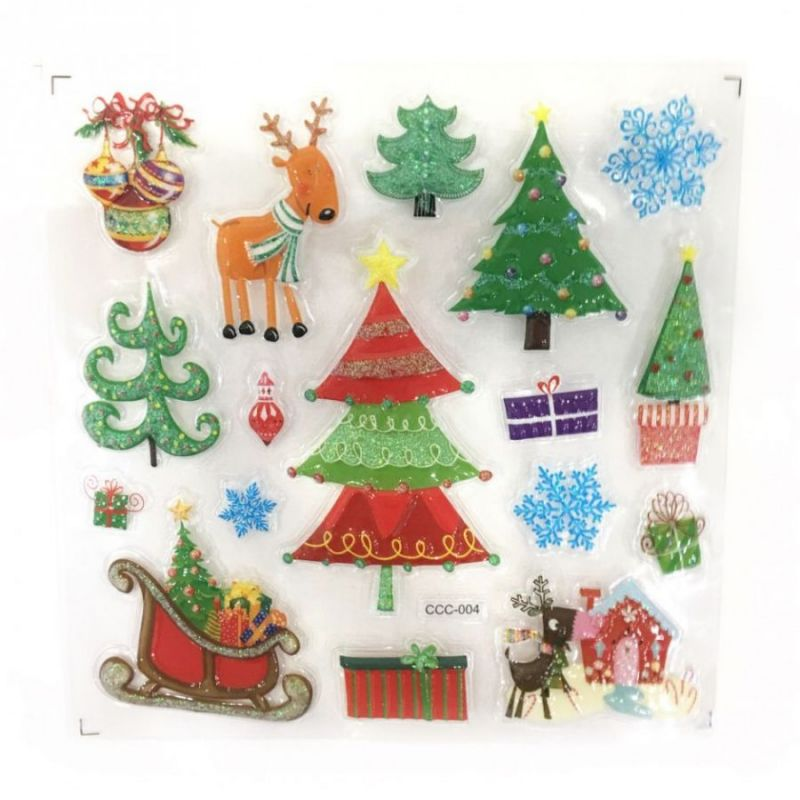 Новогодние наклейки на окна Room Decor, 26х21 см, рисунок Новогодние ёлки