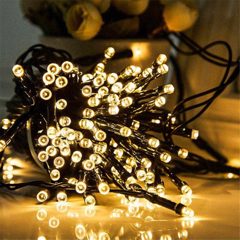 Светодиодная гирлянда 100 LED, 8м, цвет свечения белый теплый