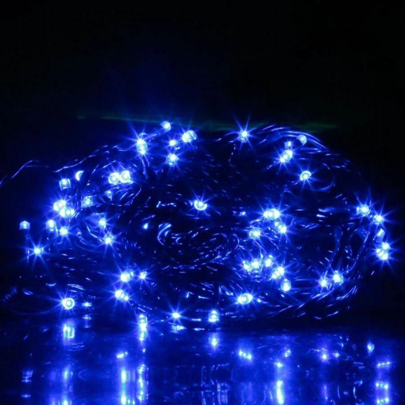 Светодиодная гирлянда 100 LED, 8м, цвет свечения синий