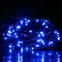 Светодиодная гирлянда LED, цвет свечения синий