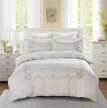 Комплект постельного белья  Сатин вышивка  VALENCIA евро   Арт.5125/1