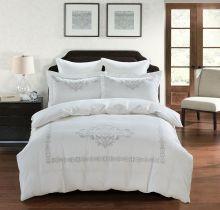 Комплект постельного белья  Сатин вышивка  REVENA евро   Арт.5126/1
