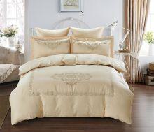 Комплект постельного белья  Сатин вышивка  REVENA евро   Арт.5126/2