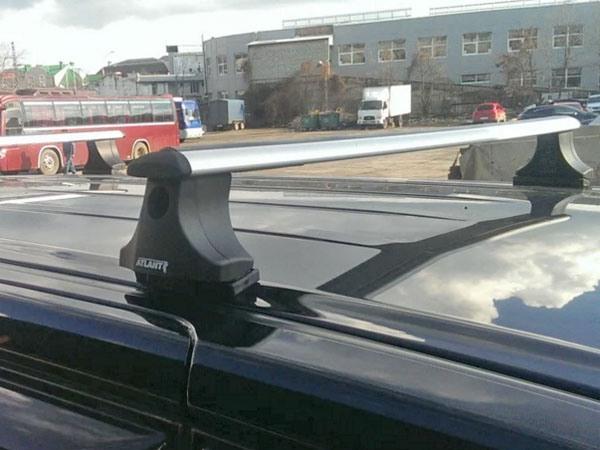 Багажник на крышу Mitsubishi Grandis, Атлант, крыловидные аэродуги