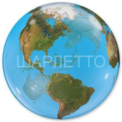 """Шар Сфера 3D BUBBLE """"Планета Земля"""""""