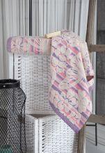 "Полотенце махровое жаккард  ""KARNA"" MARIPOSA  (розовое) 100*150 Арт.3200-1"