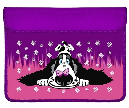 Анонс-изображение товара папка для тетрадей а4 пес и бабочка  (формат для труда) объем, 4501063