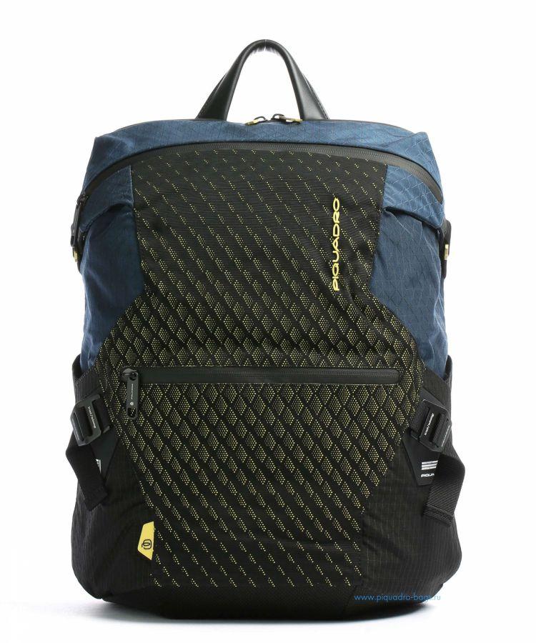 Рюкзак мужской городской Piquadro CA5115PQY/BLG сине-желтый