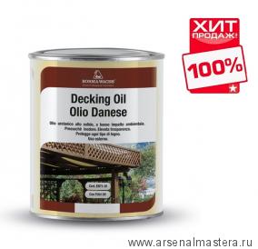 Масло датское Borma Decking Oil 1л для террас Темный орех 4971-IL-632 ХИТ!