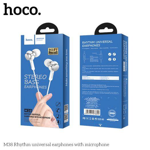 Наушники с гарнитурой HOCO M38 Rhythm, серый металл