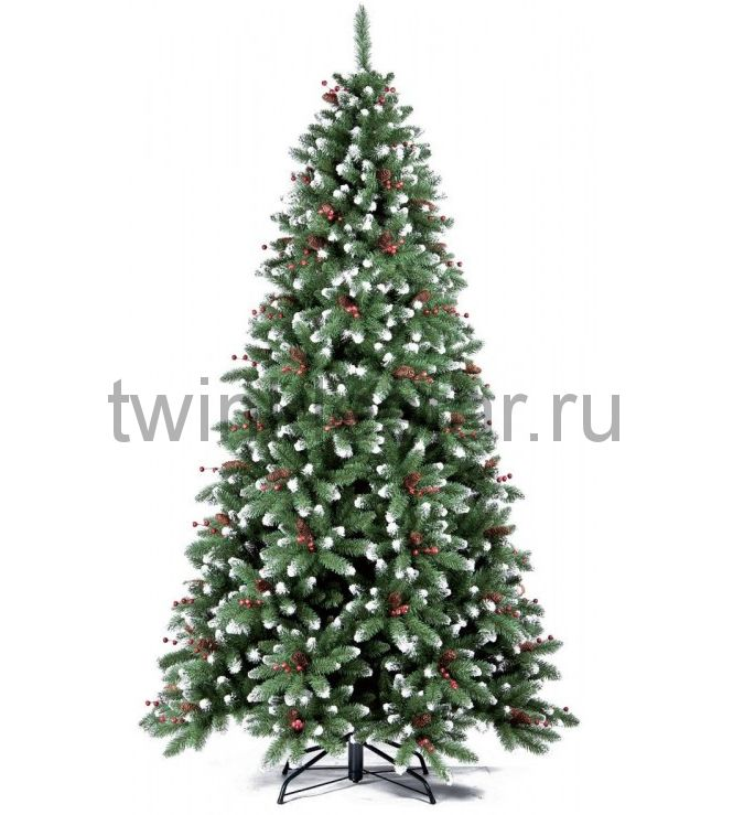 Ель Royal Christmas Seattle заснеженная шишки/ягоды 180 см.