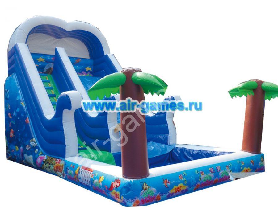 Надувной батут с бассейном «ПАЛЬМЫ» 8 x 4x 6