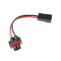 RK04116 * Разъем под лампы H8, H11, H27/2 (с проводами сечением 1,0 кв.мм, длина 120 мм) с ответной частью - разъемом штыревым