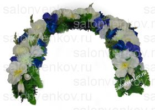 Траурная гирлянда в изголовье из искусственных цветов N7