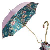 Зонт-трость Pasotti Giante Tella Biruza Oro
