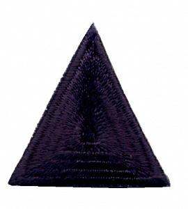 фото Термо-аппликация HKM Треугольник 35 мм х 35 мм. Германия темно-серый