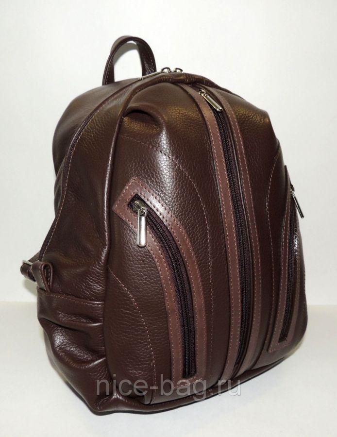"""Коричневый кожаный рюкзак  """"Ореховый"""""""